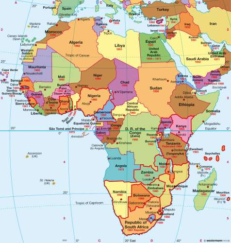 Maps   Africa – Political map   Diercke International Atlas