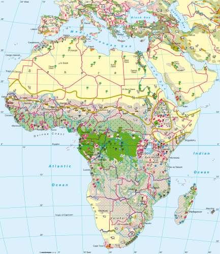 Diercke Karte Agriculture