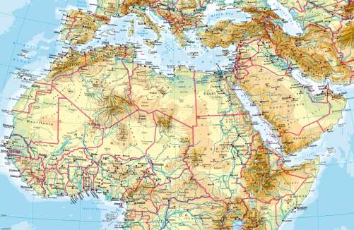 North Africa Map Physical Maps   Northern Africa – Physical map   Diercke International Atlas