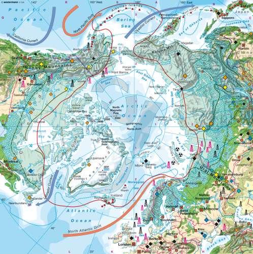 Diercke Karte North polar region (Arctic)
