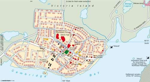 Map Of Canada Nunavut.Maps Inuit Town Cambridge Bay Ikaluktutiak Nunavut Territory