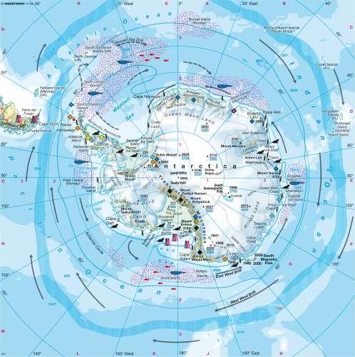 Diercke Karte South polar region (Antarctica)