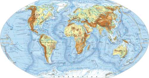 Maps - The world – Physical map - Diercke International Atlas