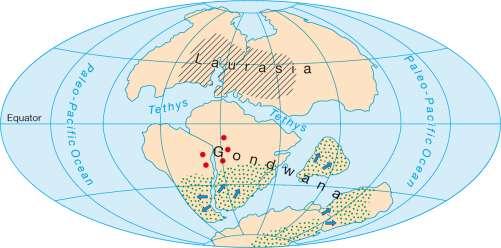 Diercke Karte Continents 135 million years ago