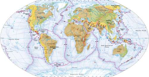 Maps - Plate tectonics, volcanism and earthquakes - Diercke ...
