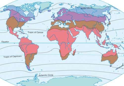 Diercke Karte Thermal climate zones