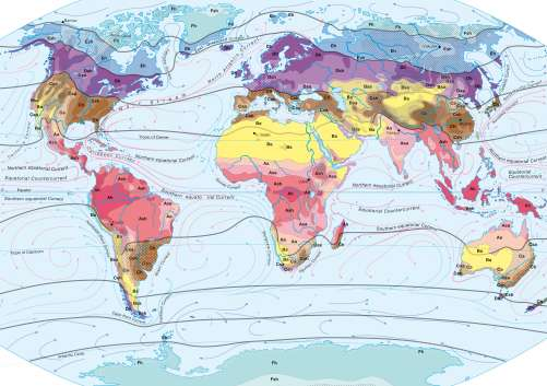 Maps - World climates – Effective classification after A ...