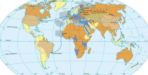 Diercke Karte The world during World War One (1914 – 1918)