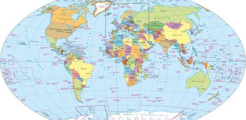 Maps - The world – Political map - Diercke International Atlas