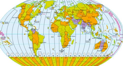 Maps - Time zones - Diercke International Atlas