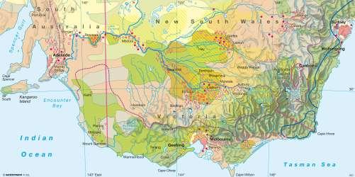 Diercke Karte Murray-Darling Basin (Australia) – Agricultural and climate variability