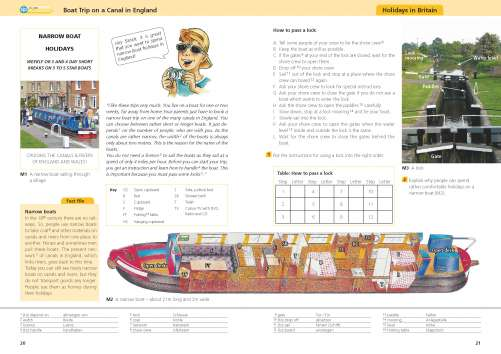 Diercke Karte Boat Trip on a Canal in England