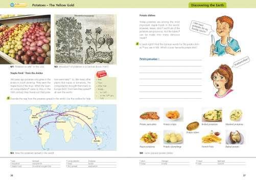 Diercke Karte Potatoes - The Yellow Gold