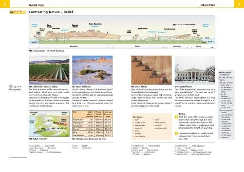 Diercke Karte Contrasting Nature - Relief