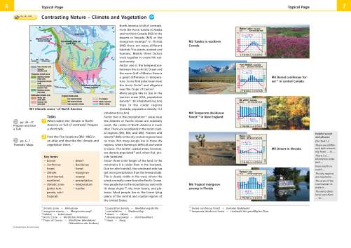 Diercke Karte Contrasting Nature - Climate and Vegetation
