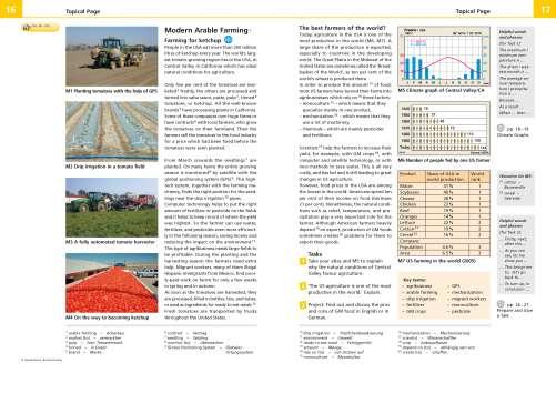 Diercke Karte Modern Arable Farming