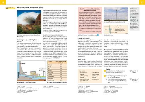 Diercke Karte Electricity from Water and Wind