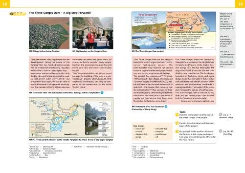 Diercke Karte The Three Gorges Dam - A Big Step Forward?
