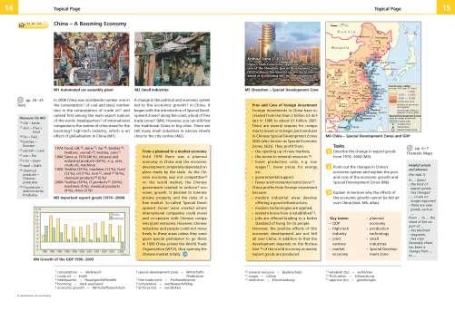 Diercke Karte China - A Booming Economy