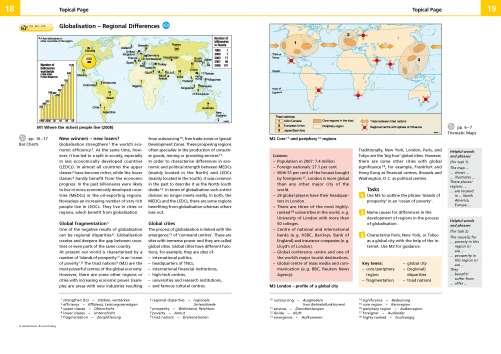 Diercke Karte Globalisation - Regional Differences