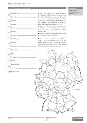 Arbeitsblatt Hessen Gebirge Flüsse : Diercke weltatlas kartenansicht deutschland physisch