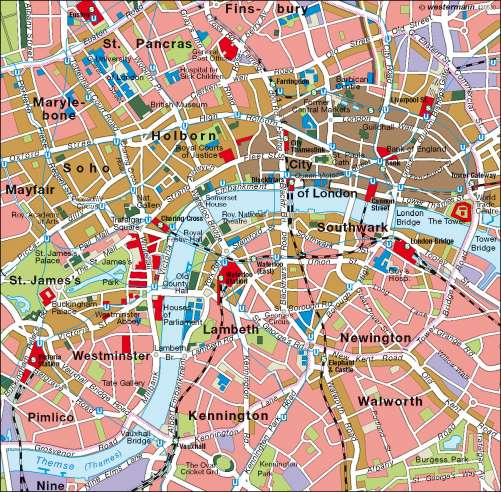 Diercke Weltatlas Kartenansicht London Innenstadt