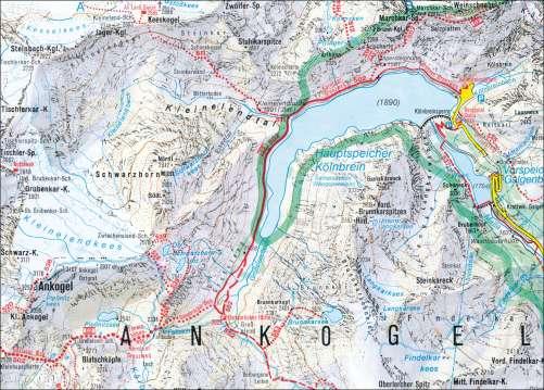 Diercke Karte Ankogelgruppe - Wanderkarte