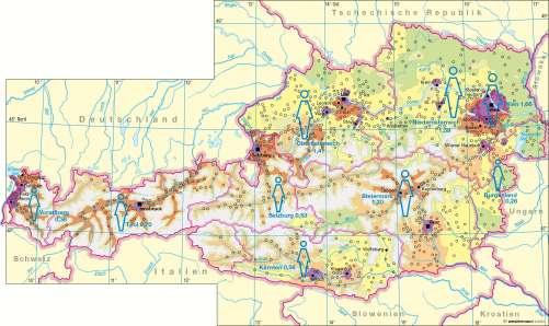 Diercke Karte Bevölkerungsdichte