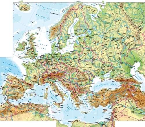 Diercke Karte Europa - physische Übersicht