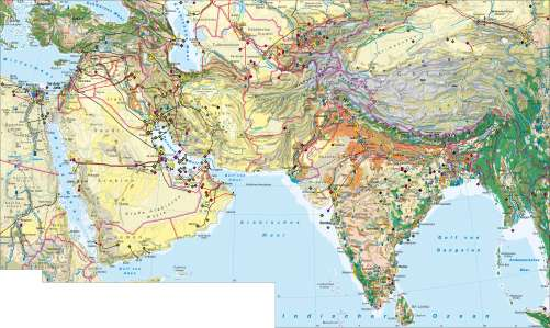 Südasien Karte.Diercke Weltatlas Kartenansicht West Und Südasien Wirtschaft