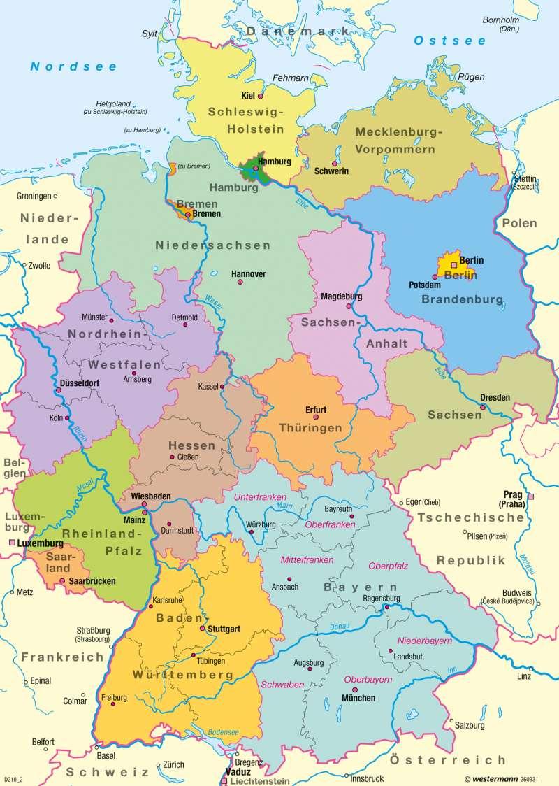 deutschland karte Diercke Weltatlas   Kartenansicht   Bundesrepublik Deutschland
