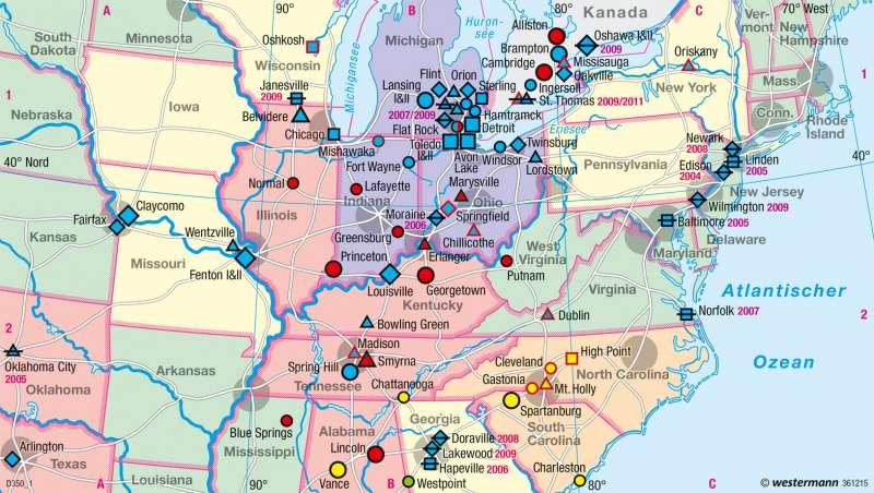 Diercke Weltatlas Kartenansicht Usa Entwicklung Der