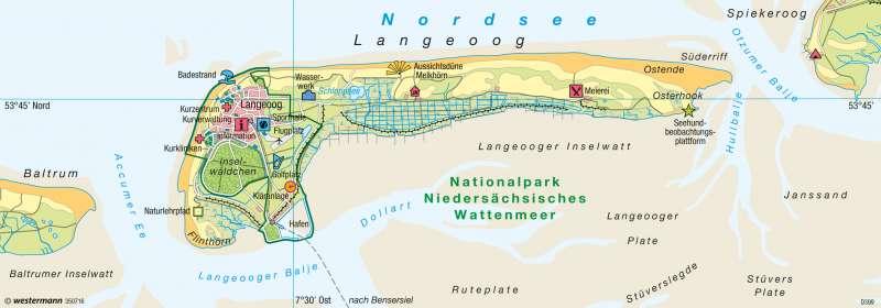 langeoog karte Diercke Weltatlas   Kartenansicht   Langeoog (Ostfriesland