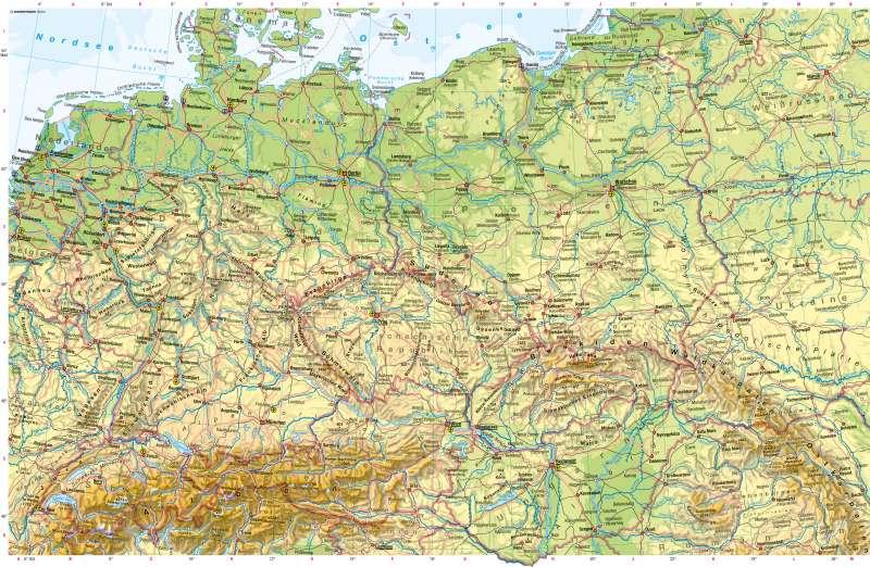 karte mitteleuropa Diercke Weltatlas   Kartenansicht   Mitteleuropa   Physische Karte