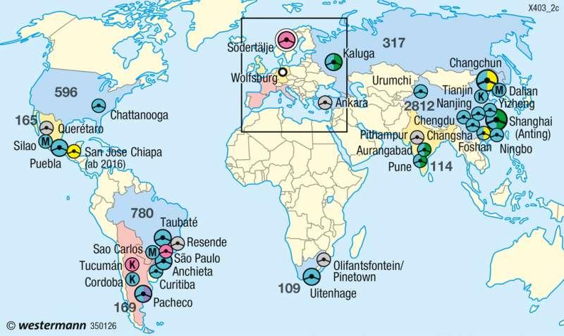 | Global Player Volkswagen | Industrieraum Braunschweig-Wolfsburg | Karte 37/6