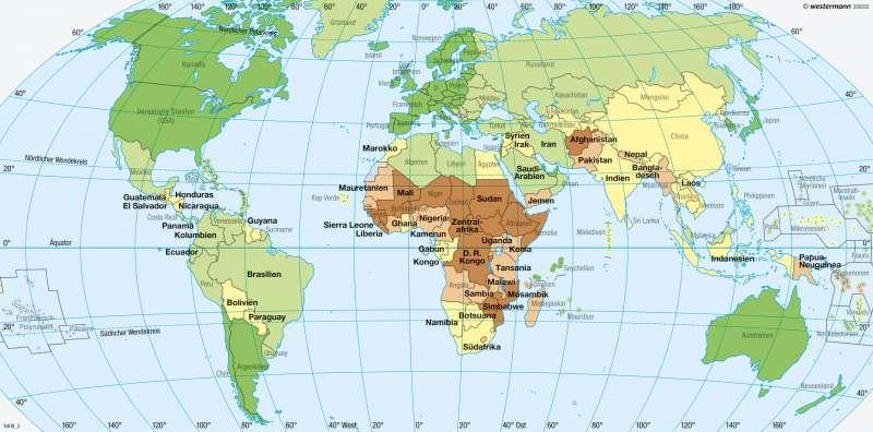 Erde | Entwicklungsstand | Erde - Entwicklungsstand der Staaten | Karte 274/1