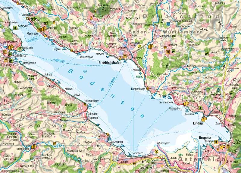 Diercke weltatlas kartenansicht bodensee tourismus for Bodensee karte