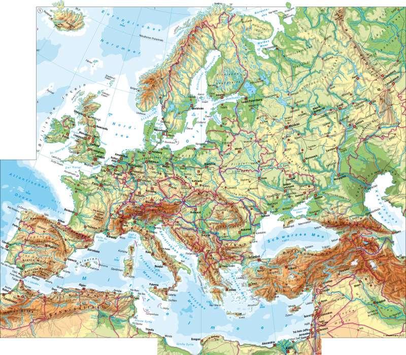 physische karte europa Diercke Weltatlas   Kartenansicht   Europa   physische Übersicht