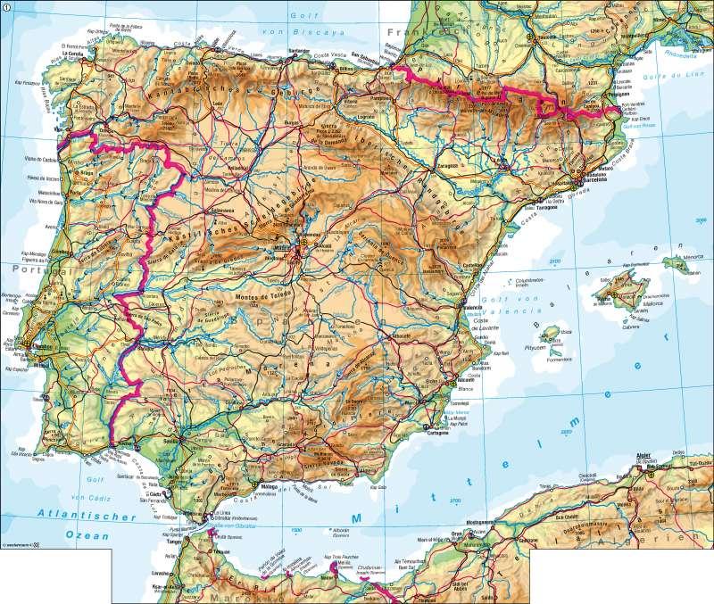 Apenninenhalbinsel Karte
