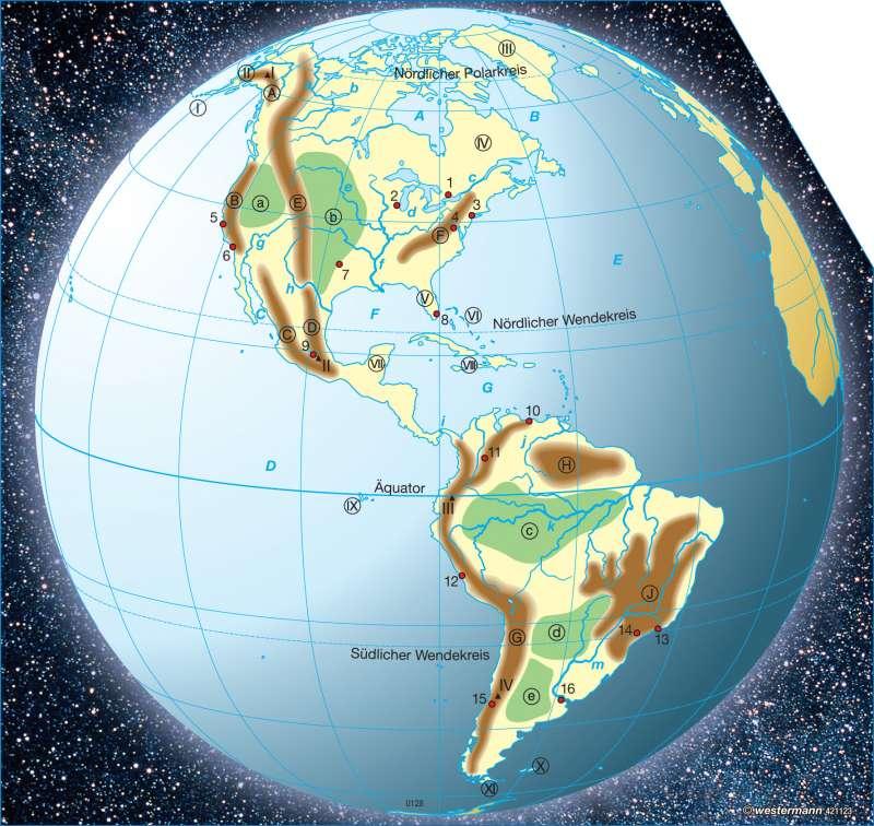topographie amerika