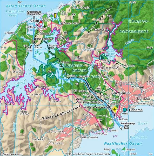 panamakanal karte Diercke Weltatlas   Kartenansicht   Panamakanal   Verbindung der