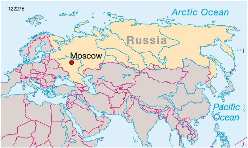 Maps Moscow Russias centre of power Diercke International Atlas