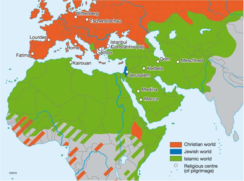 the christian jewish and islamic world
