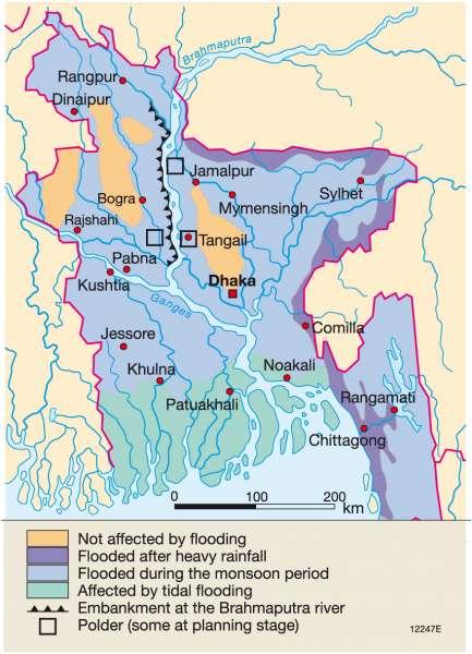 Maps bangladesh physical map diercke international atlas flooding in bangladesh gumiabroncs Image collections