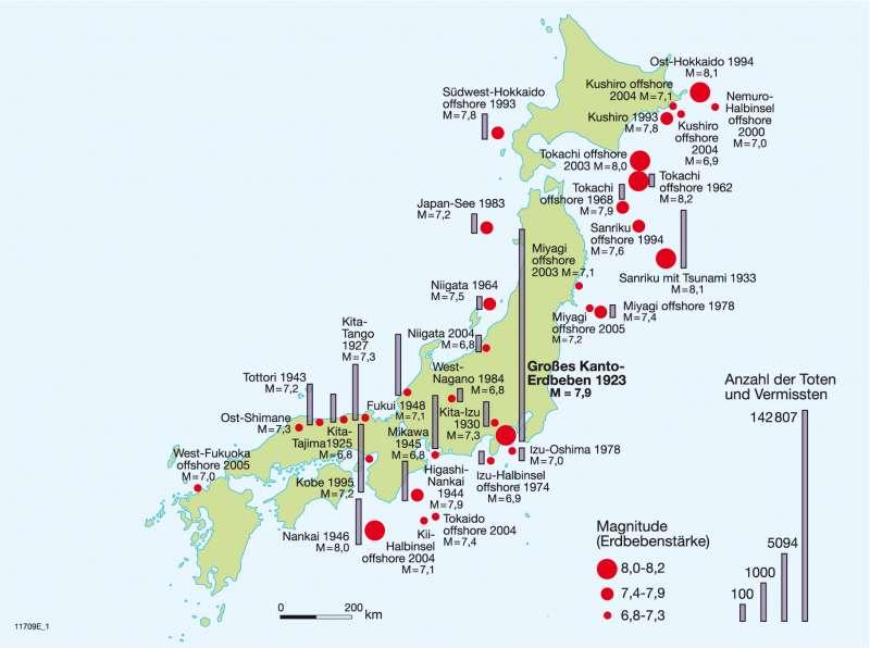 Japan Karte Physisch.Diercke Weltatlas Kartenansicht Japan Physisch
