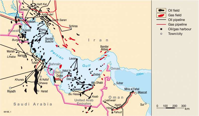 Oil And Gas In The Persian Gulf