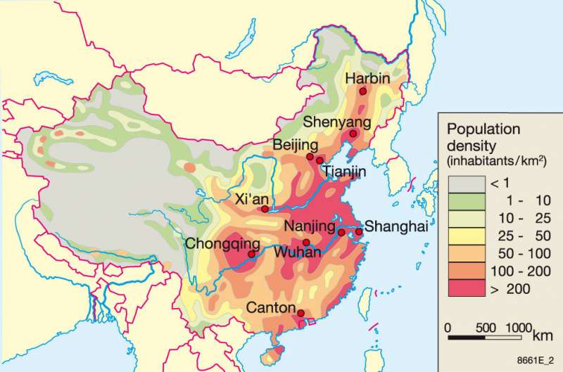 Maps China Regional development since 1980 Diercke