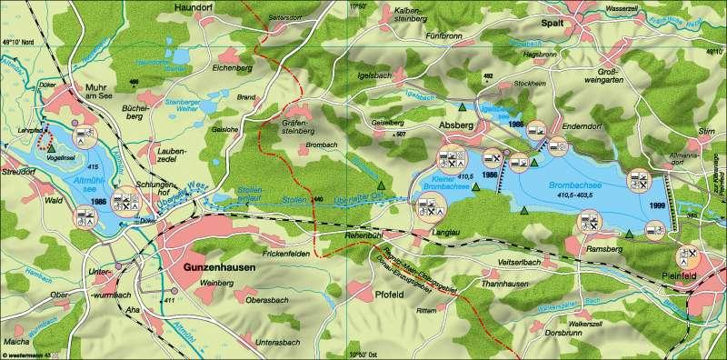fränkisches seenland karte Diercke Weltatlas   Kartenansicht   Fränkisches Seenland
