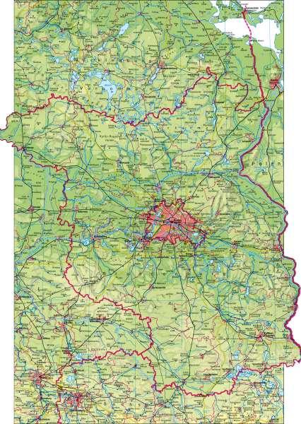 berlin brandenburg karte Diercke Weltatlas   Kartenansicht   Physische Karte     978 3 14