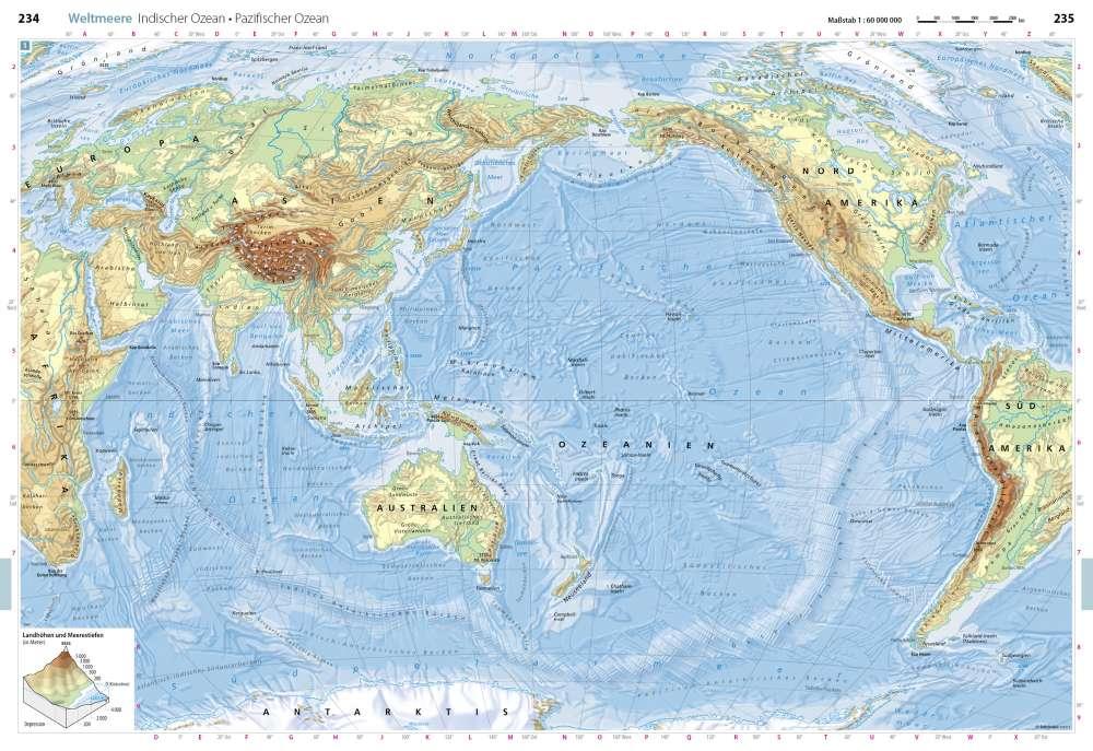 Indischer Ozean Pazifischer Ozean Weltmeere Seydlitz